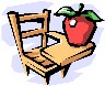 Picture of desk with apple