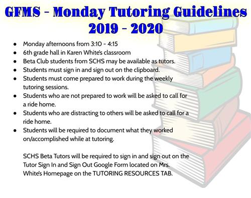 GFMS Tutoring Guidelines