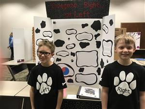 Max and Colby at the Science Fair