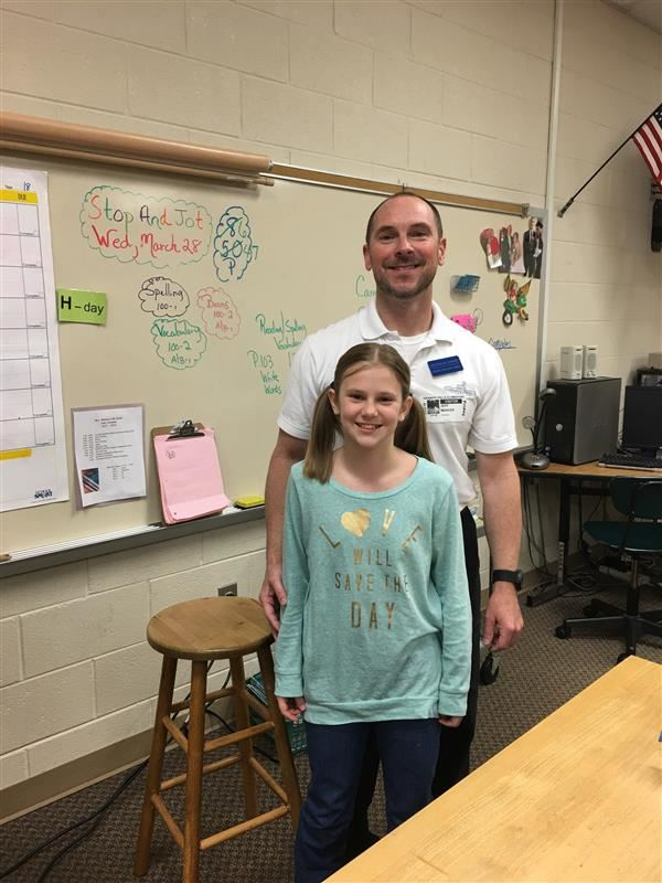 Jillian's and her dad on Career Day.