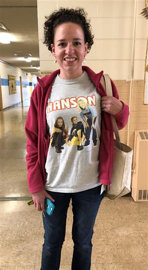 Ms Millie and her Hanson shirt