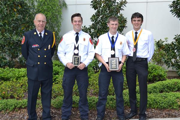 Students enrolled in the Hibriten High Fire Academy receive Firefighter CTE Credentials