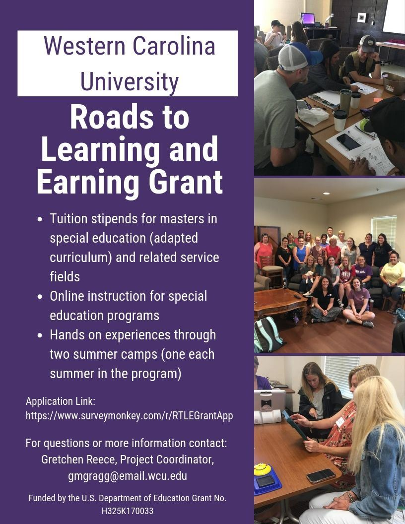 Special Education Grant Opportunity at Western Carolina University